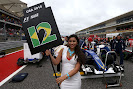 Felipe Nasr's grid girl at Circuit of the Americas.