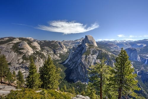 Glacier point view Yosemite