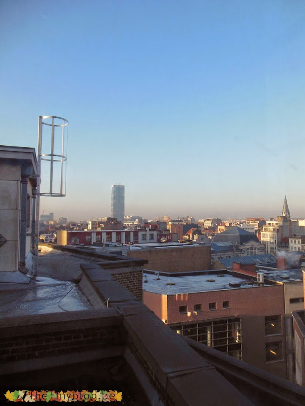Brussels City Center Morning and Evening November 2012