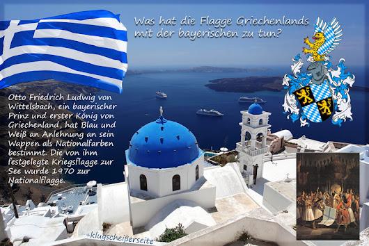 Was hat die griechische Flagge mit der bayerischen zu tun http