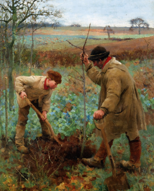 Sir George Clausen - Planting a Tree