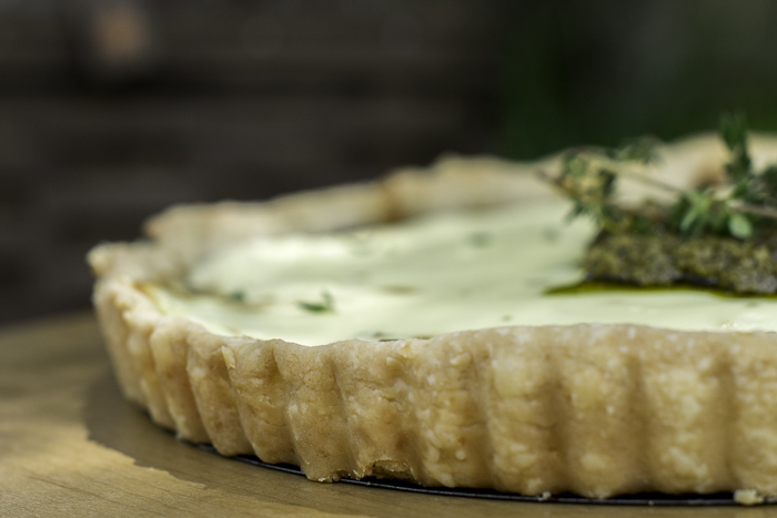 tart shell for onion and goat cheese tart