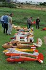 La traditionnelle exposition des fuselages a lieu au camp de base