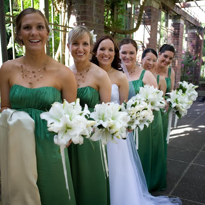 Briar's bridesmaids - Rouched front empire line gowns