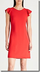 Claudie Pierlot Red Crepe Dress