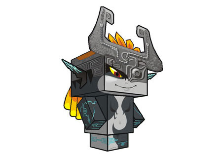Twilight Princess Midna Paper Toy