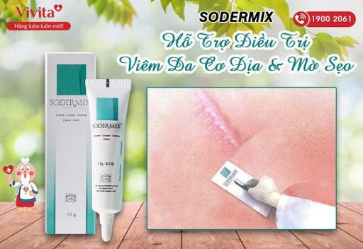 Kem Bôi Sodermix - Hỗ Trợ Điều Trị Viêm Da & Sẹo | Tuýp 15g