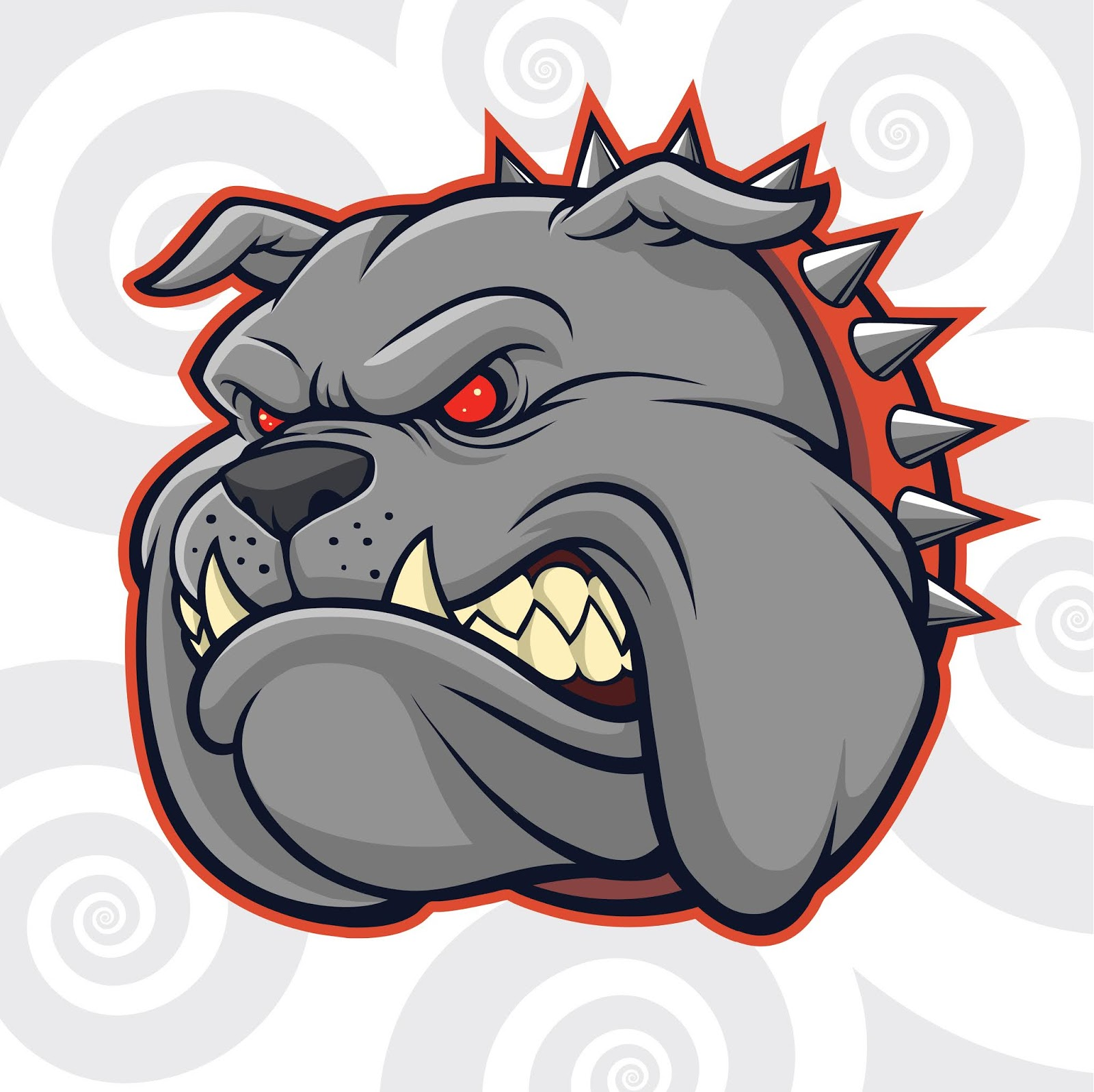 Angry Bull Dog Head Your Design Element Free Download Vector CDR, AI, EPS and PNG Formats