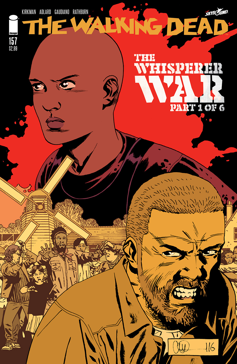 the walking dead comic book cover for issue  157