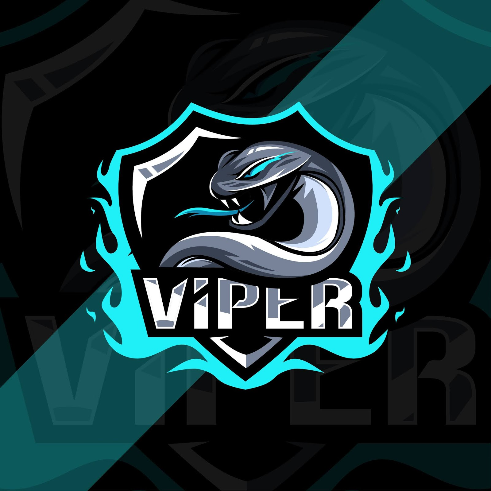 Viper Mascot Logo Esport Design Free Download Vector CDR, AI, EPS and PNG Formats