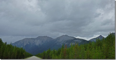 Looking north back to the Cassiar Mountains, Cassiar Highway