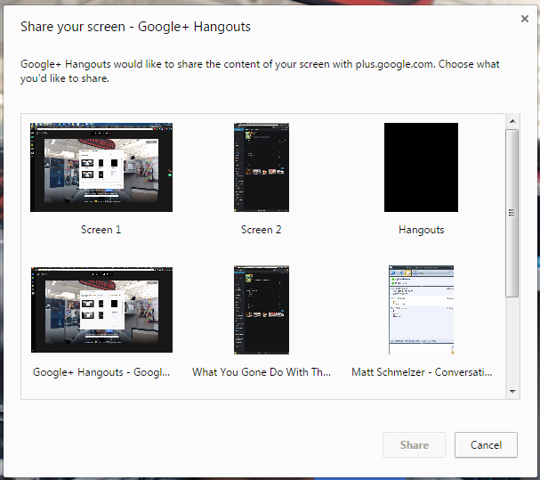 Screen Share With Multiple Monitors Google Product Forums