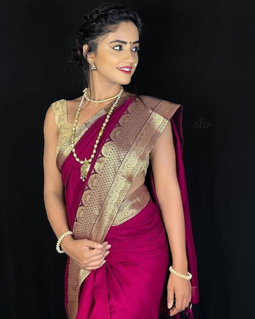Nisha in Saree