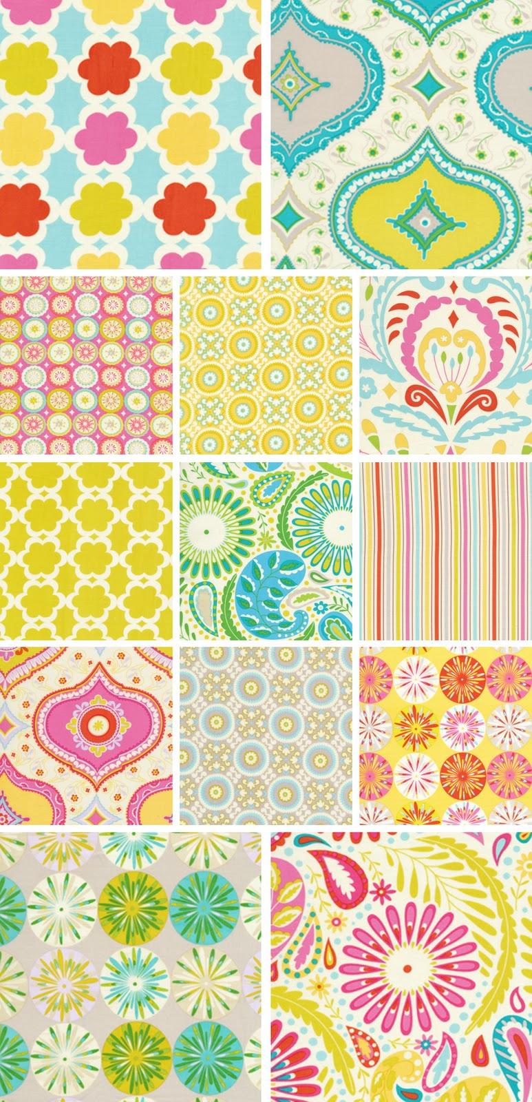 Fancy tiger crafts dena designs kumari gardens fabrics for Dena designs fabric kumari garden