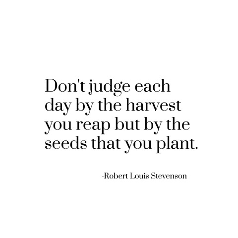 seeds you plant -- stevenson