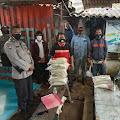 Polsek Kawasan KaliBaru Salurkan Bansos Kepada Serikat Pekerja