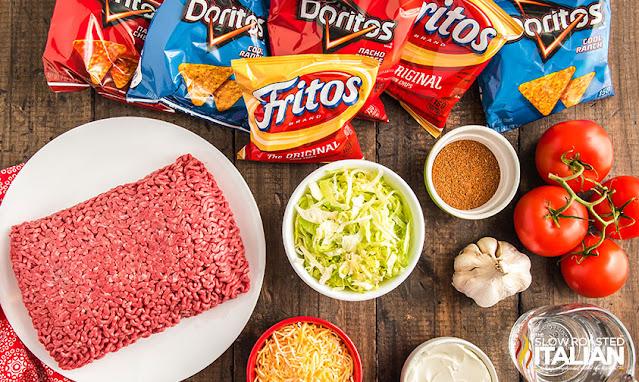 Ingredients Walking Tacos