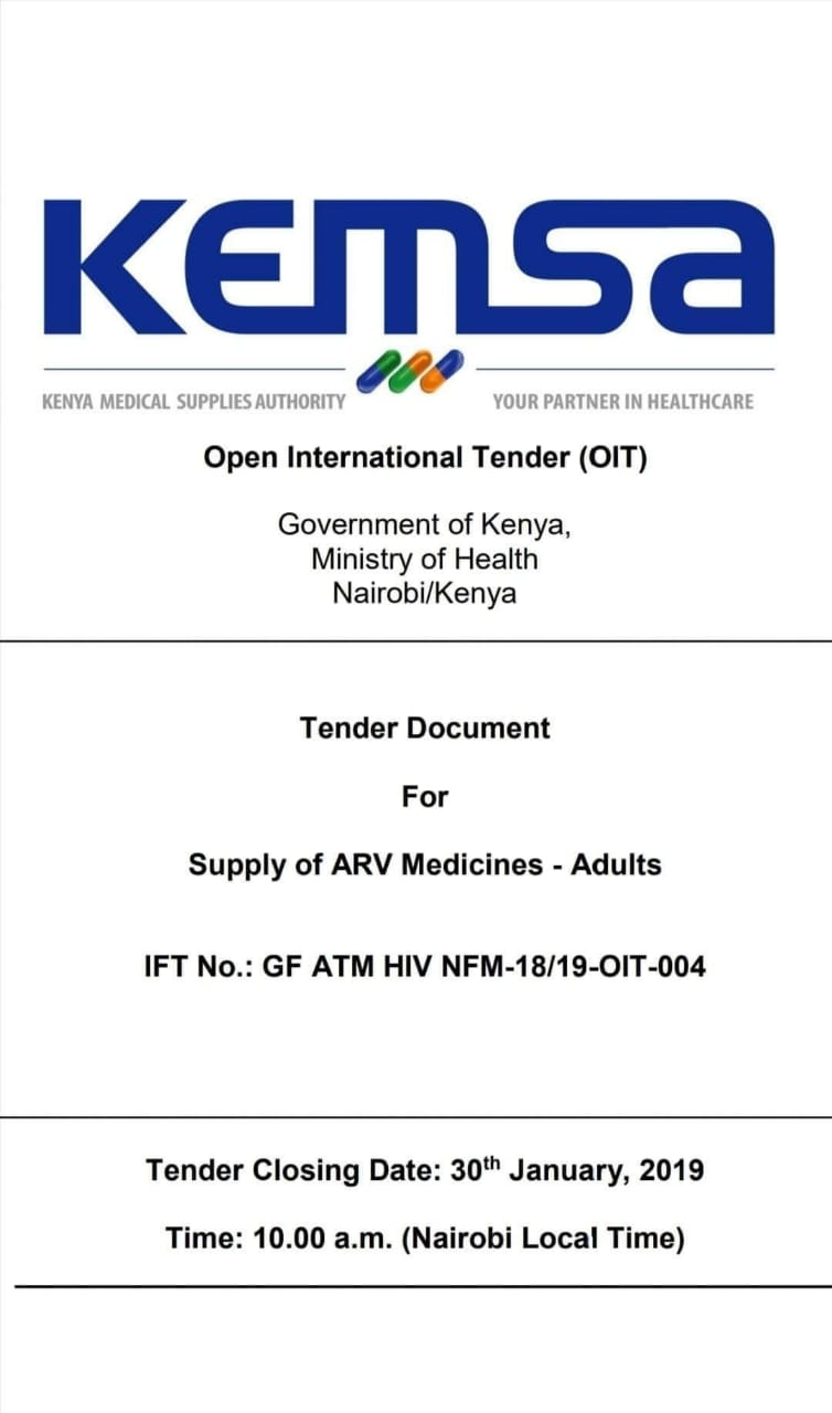 KEMSA open tender