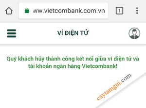 Hướng dẫn hủy liên kết ví MoMo với tài khoản ngân hàng