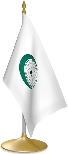OIC table flags - desk flags