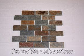 Brick, Flooring, Flooring & Mosaics, Interior, Large, Mosaic, Multicolor, Natural, Slate, Stone, Tile