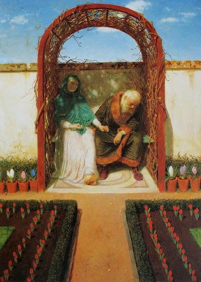 Arnold Böcklin - In der Gartenlaube