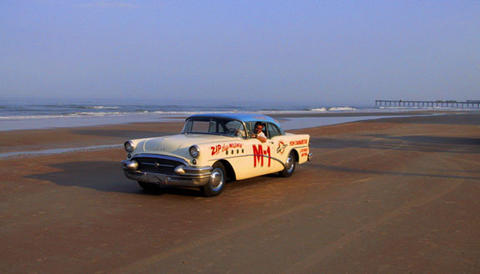 FireBall Roberts car on the beach.