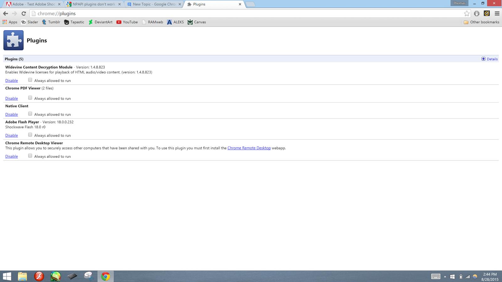 Adobe Shockwave player won't install into Google Chrome! - Google