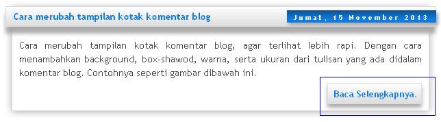 Modifikasi baca selengkapnya versi Blogger