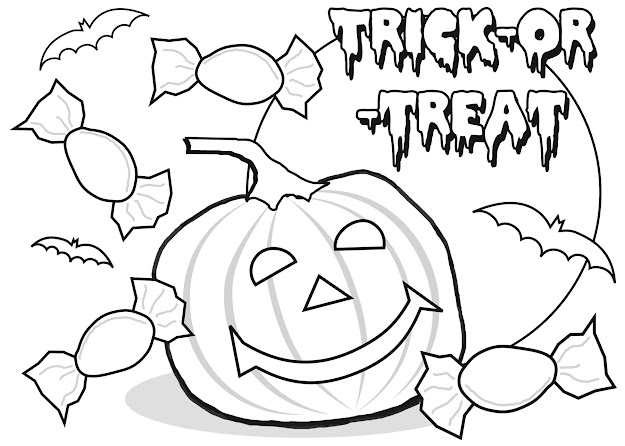 Free Coloring Pages Of Halloween Free Image