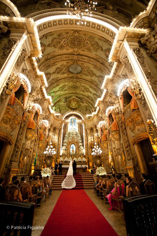Foto de casamento 0840 de Ana e Joao. Marcações: 29/10/2011, Casamento Ana e Joao, Igreja, Igreja Sao Francisco de Paula, Rio de Janeiro.