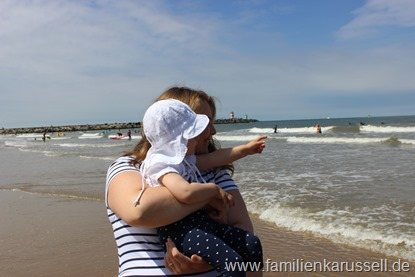 Familienkarussell an der Nordsee