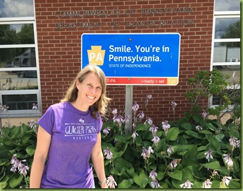 Kristi with Pennsylvania sign