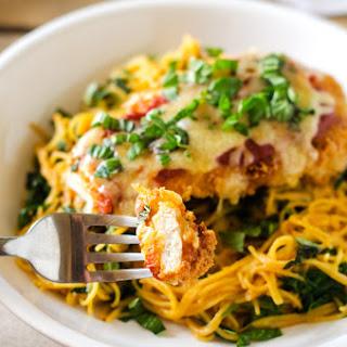 Gluten Free Chicken Parmesan with Quinoa & Spinach Spaghetti