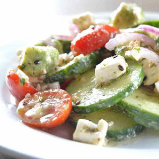Tangy Cucumber Salad with Feta & Dill Recipe