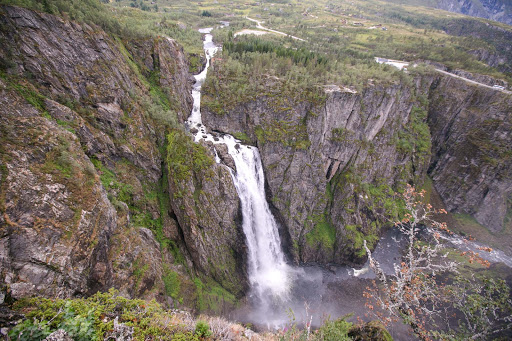 Voringsfossen-falls.jpg - Vøringsfossen waterfall is less than an hourlong bus ride from Eidfjord, Norway.