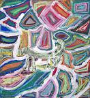 Chalk Pastel Lizard by Brian