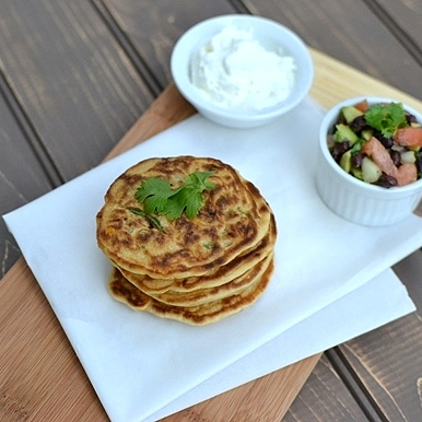 Cook's Hideout: Corn & Scallion Pancakes