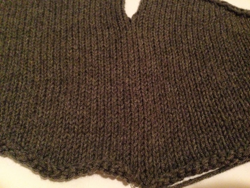 Mattress stitch seam, right side.