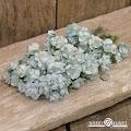 Mathia: Roser m/stilk, 15mm - Lys Blå-Hvit, 48stk
