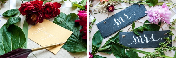 virginia wedding calligrapher
