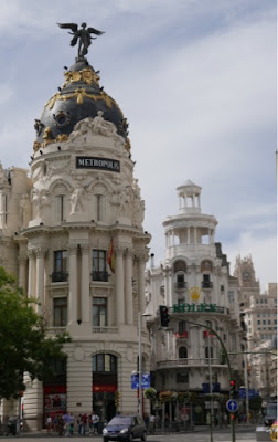 Some impressive buildings in Madrid.