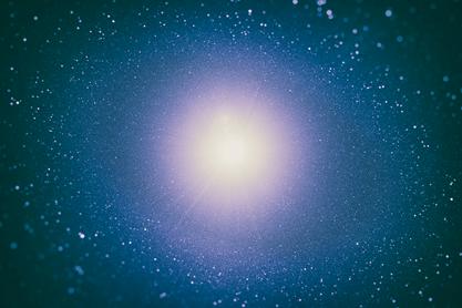 ilustração de uma estrela de nêutrons