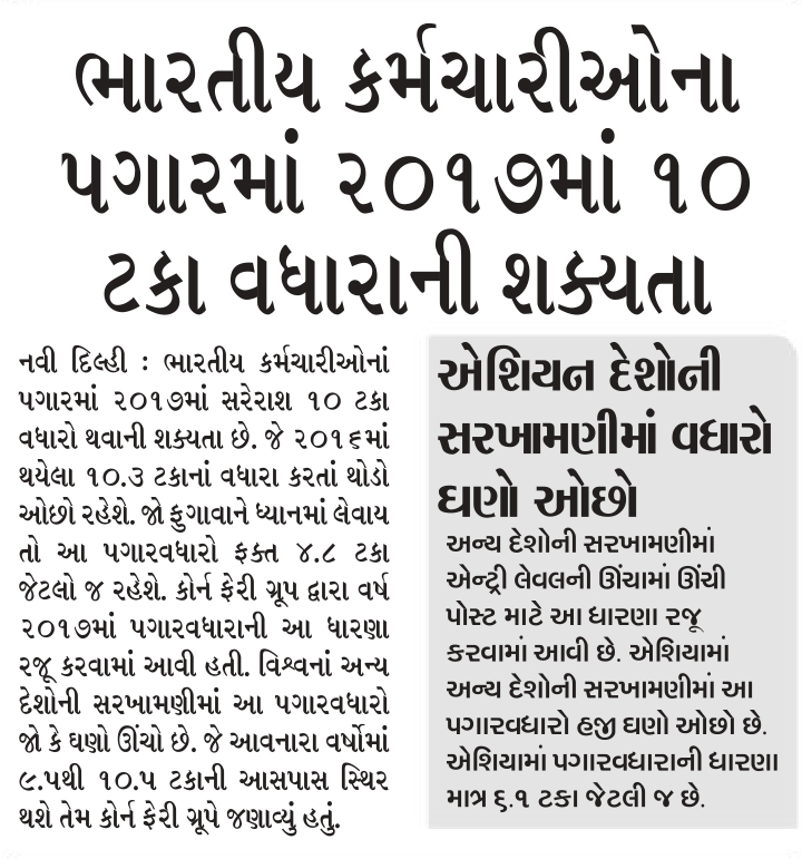 Indian Employees 10% Hike Salary Related