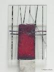 Objekt, Glas, Kupferfolie eingeschmolzen 2006/09