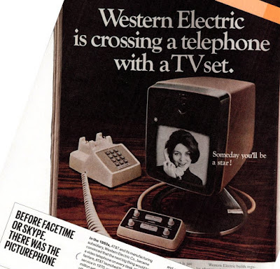 Western Electric ad for crossing TV telephone IEEE Spectrum Aug. 2015