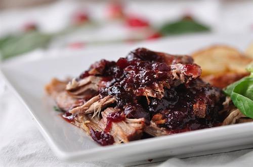 Crockpot Cranbery Pork Roast