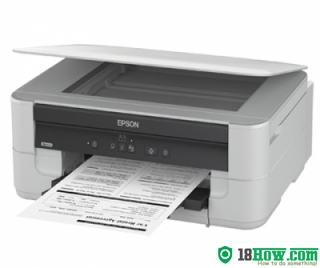 How to reset flashing lights for Epson K200 printer