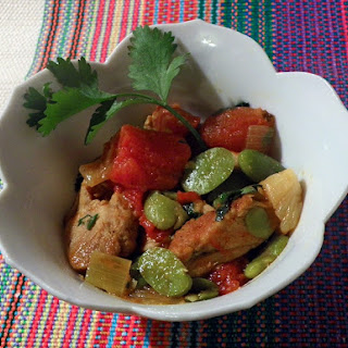 Tagine of Chicken and Fava Beans