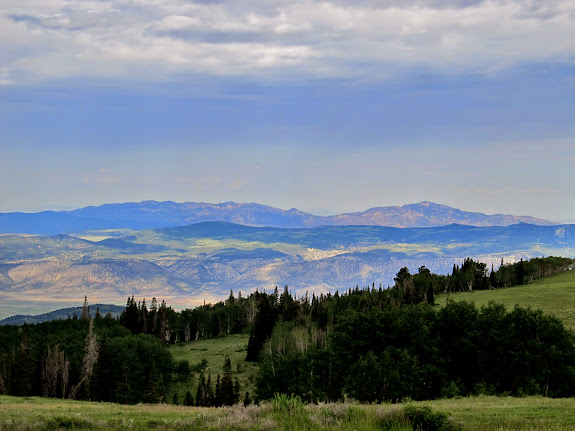 View from Skyline over Sanpete Valley to the Canyon Mountains in the far distance